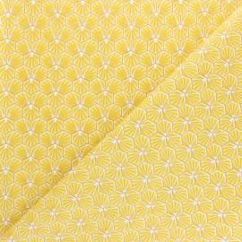Tissu coton cretonne Riad - doré x 10cm