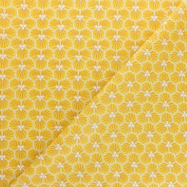 Cretonne cotton fabric - yellow Riad x 10cm