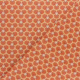 Cretonne cotton fabric - saffron yellow Riad x 10cm