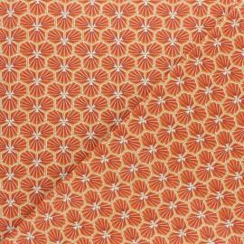 Tissu coton cretonne Riad - jaune safran x 10cm