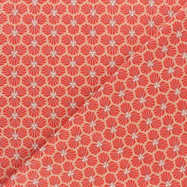 Cretonne cotton fabric - Terracotta Riad x 10cm