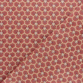 Cretonne cotton fabric -  Red Riad x 10cm