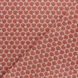 Tissu coton cretonne Riad - Rouge x 10cm