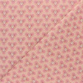 Tissu coton cretonne Riad - rose corail x 10cm