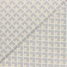 Cretonne cotton Fabric Ecailles dorées - pink x 10cm