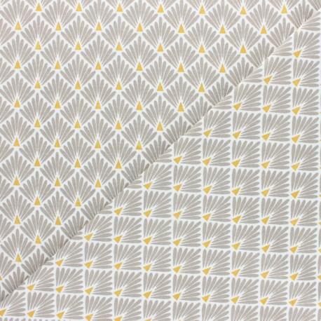 Tissu coton cretonne Ecailles dorées - rose x 10cm