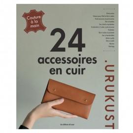 """Livre """"24 accessoires en cuir"""""""