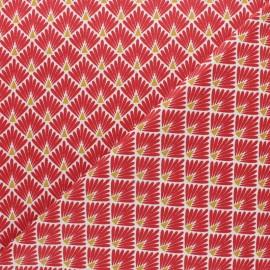Tissu coton cretonne Ecailles dorées - beige x 10cm