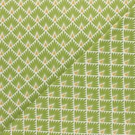 Tissu coton cretonne Ecailles dorées - jaune x 10cm