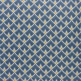 Tissu coton cretonne enduit Ecailles - argent x 10cm
