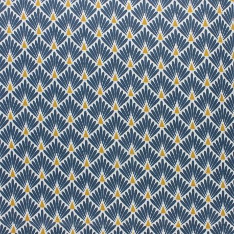 Coated cretonne cotton Fabric Ecailles - silver x 10cm