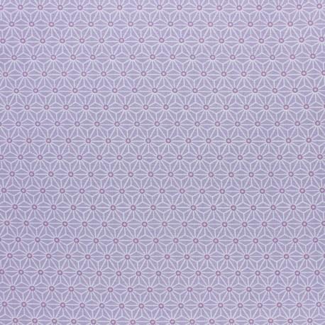 Tissu coton cretonne enduit Saki - Aqua x 10cm