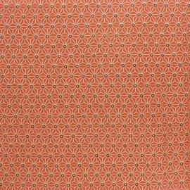 Tissu coton cretonne enduit Saki - orange x 10cm