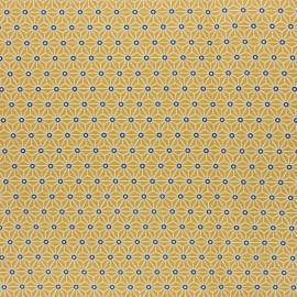 Coated cretonne cotton fabric - yellow saki x 10 cm