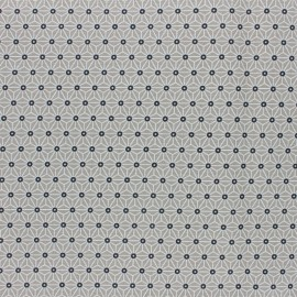 Coated cretonne cotton fabric - New Taupe saki x 10 cm