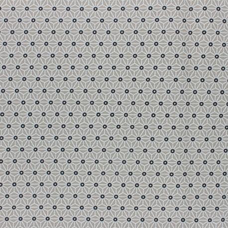 Tissu coton cretonne enduit Saki - Absinthe x 10cm