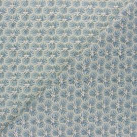Tissu coton cretonne Riad - Bleu ciel x 10cm