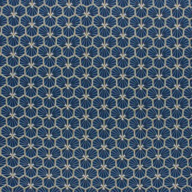 Tissu coton cretonne Riad - bleu pétrole x 10cm