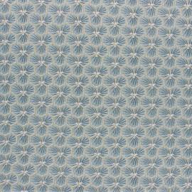 Tissu coton cretonne enduit Riad - vert de gris x 10cm