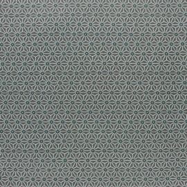 Coated cretonne cotton fabric - khaki green saki x 10 cm