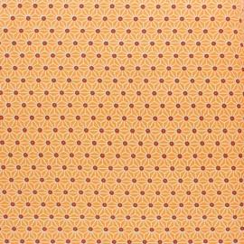 Tissu coton cretonne enduit Saki - Mandarine x 10cm