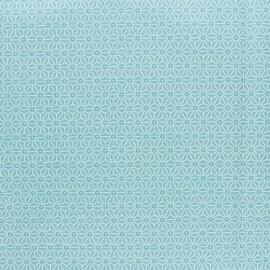Tissu coton cretonne enduit Saki - Ether x 10cm