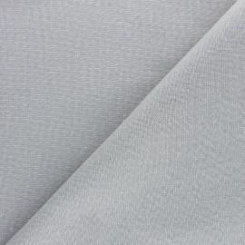 Tissu toile polycoton Cubex - gris clair x 10cm