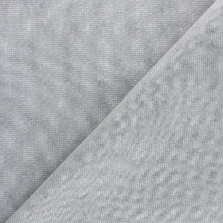 Polycotton fabric - light grey Cubex x 10cm