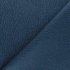 Polycotton fabric - Petrol blue Cubex x 10cm
