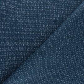 Tissu toile polycoton Cubex - bleu pétrole x 10cm