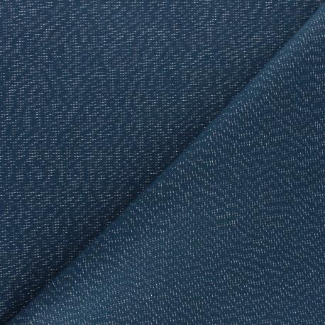 Polycotton fabric - Petrol blue Cubex x 10cm