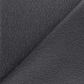 Tissu toile polycoton Cubex - gris foncé x 10cm