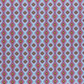Cretonne cotton fabric - light blue Riad x 10cm