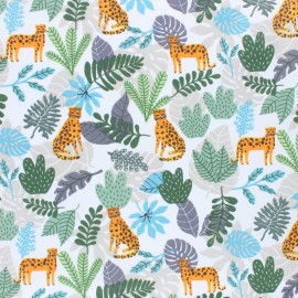 Cretonne cotton fabric - blue Simba x 10cm
