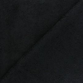 Tissu éponge bébé bambou - noir x10cm