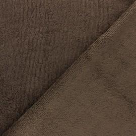 Tissu éponge bébé bambou - chocolat x10cm