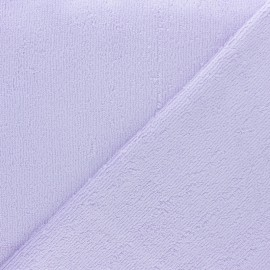 Tissu éponge bébé bambou - Parme x10cm