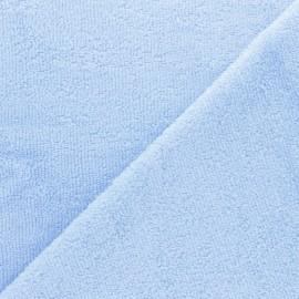 Sponge Zorb fabric - Azure blue Baby bamboo x10cm