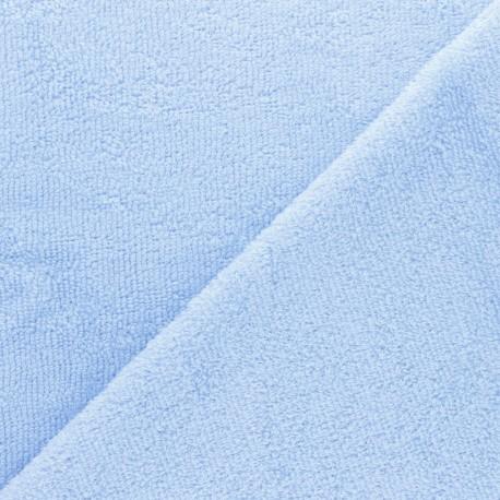 Tissu éponge bébé bambou - Azur x 10cm