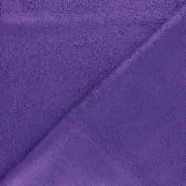 Tissu éponge bébé bambou - violet x10cm