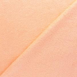 Tissu éponge bébé bambou - Pêche x 10cm