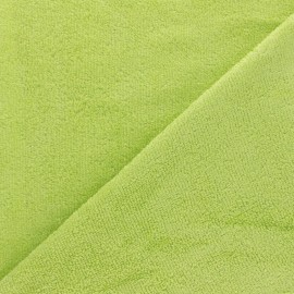 Sponge Zorb fabric - lime green Baby bamboo x10cm