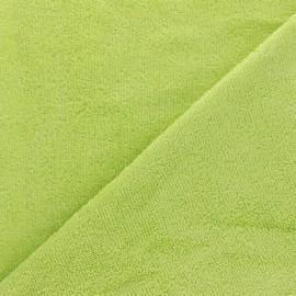 Tissu éponge bébé bambou - vert lime x 10cm