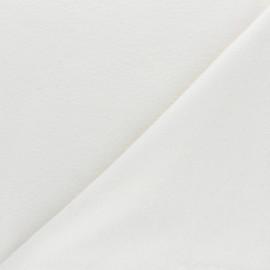 Tissu Bio molleton réversible - écru x 10cm