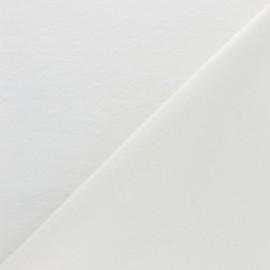 Tissu molleton chanvre/coton - écru x 10cm
