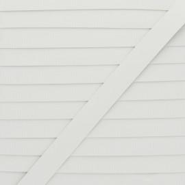 Laminette caoutchouc 6mm - blanc x 1m