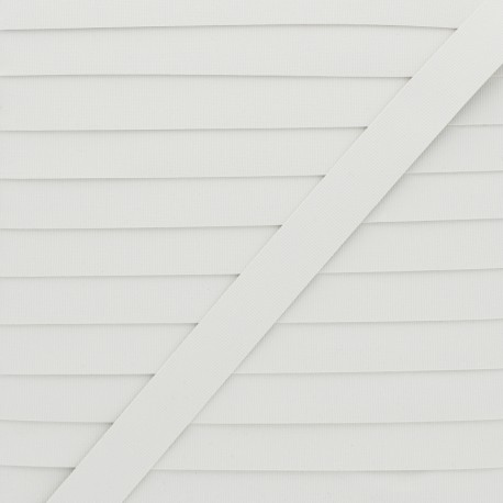 6mm Swimwear elastic - white x 1m