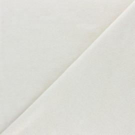 Tissu éponge jersey coton - naturel x 10cm