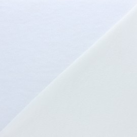 Tissu micro-éponge Tencel simple face - écru x10cm