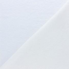 Tissu micro-éponge lyocell double face - écru x10cm